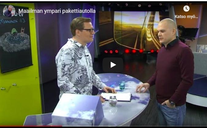 Maailman ympäri pakettiautolla Ylen aamu-tv:ssä – video