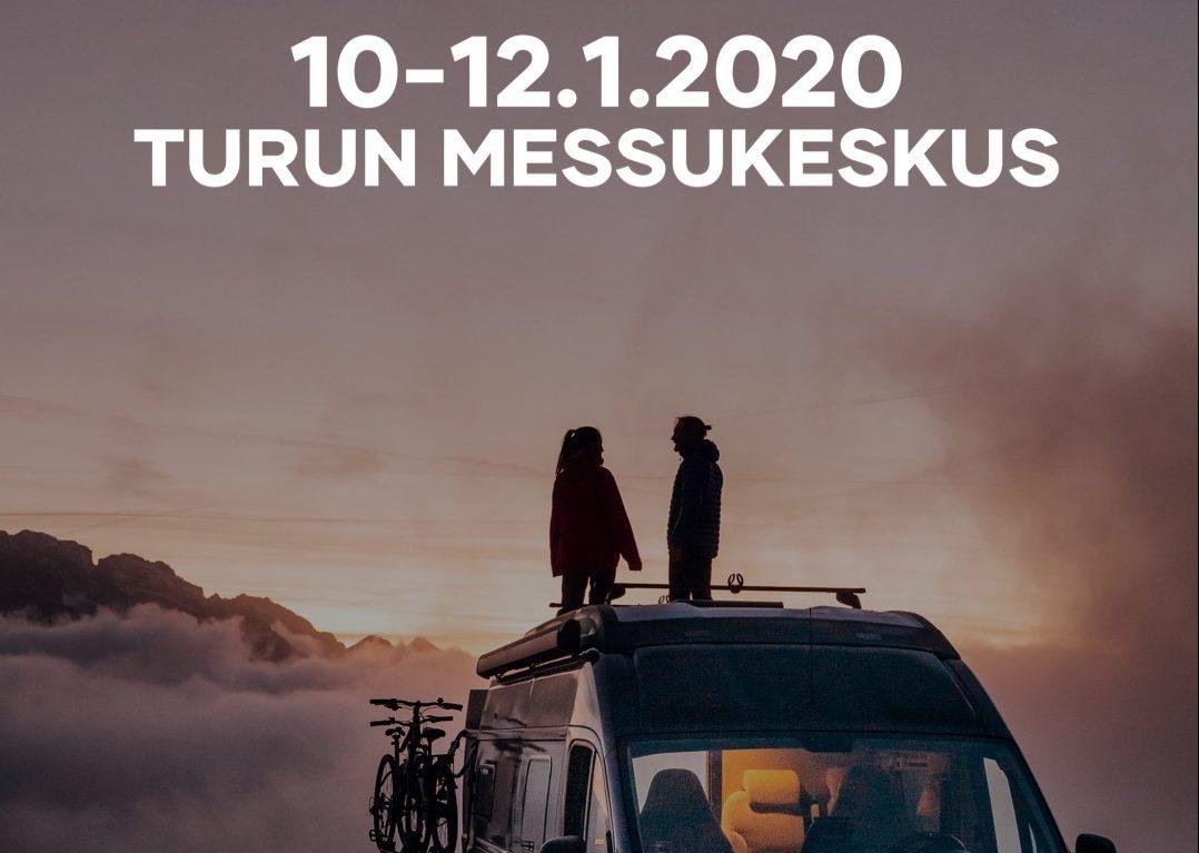 Matkakirjailija Tomi Tölli Automatkailumessuilla 2020 Turussa 10. – 12.1.2020